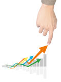 Handdiagramme Stockfoto