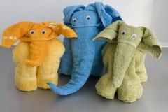 Handdoek elefants royalty-vrije stock afbeelding