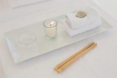 Handdoek en andere kuuroordvoorwerpen Royalty-vrije Stock Afbeelding