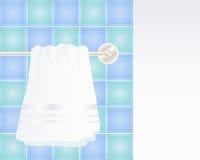 Handdoek het hangen royalty-vrije illustratie