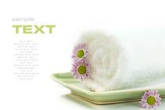 Handdoek met bloemen Royalty-vrije Stock Fotografie