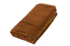 Handdoek op wit stock foto