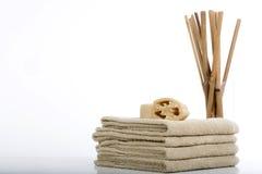 Handdoeken en sponsen Royalty-vrije Stock Afbeelding