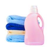 Handdoeken met detergens royalty-vrije stock fotografie