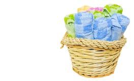Handdoeken in Rieten Mand II Royalty-vrije Stock Fotografie
