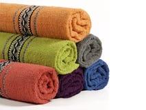 Handdoeken in verschillende kleur Royalty-vrije Stock Fotografie