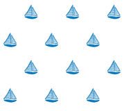 Handdralwn风船样式传染媒介 库存例证