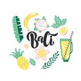 Handdran som märker logoen Bali på vit bakgrund vektor illustrationer
