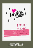 Handdraw card. Trendy invite cards. Hand Drawn design. Wedding day, anniversary, birthday, Valentin's day, party invitations, invite or save the date. Vector vector illustration
