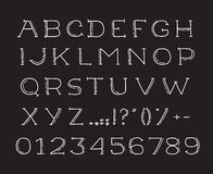 Handdrawinalfabet som handwritting abc-vektorstilsorten Royaltyfri Foto