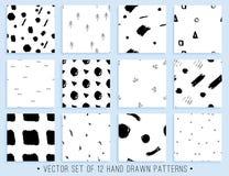 Handdrawn άνευ ραφής συλλογή σχεδίων Στοκ εικόνα με δικαίωμα ελεύθερης χρήσης