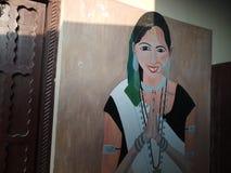 Handdrawn изображение женщин tharu Стоковые Фото