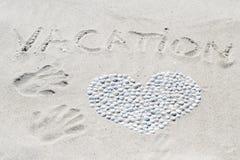 handdrawn раковины сердца изолированные иллюстрацией Стоковое Изображение