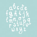 Handdrawn Alphabet. Cute hand drawn alphabet made in vector. ABC for your design. Easy to use and edit alphabet Stock Photo