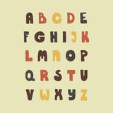 Handdrawn Alphabet. Vintage hand drawn alphabet made in vector. Easy to use and edit letters. Hand drawn digital isolated alphabet for DIY projects and design Stock Images