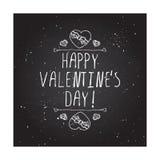 Handdrawn Ausweis des Vektors für Heilig-Valentinsgrußtag Lizenzfreie Stockfotografie