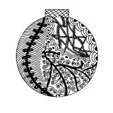 Handdrawn ball in black and white Stock Images