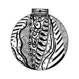 Handdrawn black and white ball Royalty Free Stock Images