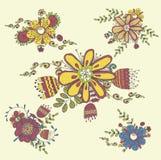 Handdrawn Blumen der Weinlese Lizenzfreie Stockfotos