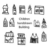 Handdrawn building Stock Photography