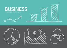Handdrawn  business charts and statistics Stock Photo