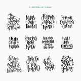 Handdrawn Christmas Lettering Royalty Free Stock Photo