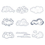 Handdrawn Cloud Collection. Vector Illustration Stock Photo