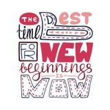 Handdrawn creatieve affiche met het unieke van letters voorzien stock illustratie
