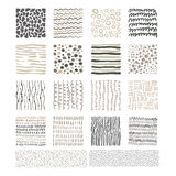 Handdrawn Doodle Textures, Black and White Vector Stock Images