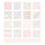 Handdrawn Doodle Textures, Vector Set Stock Photography