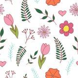 Handdrawn easter seamless pattern royalty free illustration