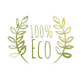 Handdrawn Eco Label Royalty Free Stock Photo