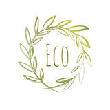 Handdrawn Eco Label Stock Images