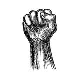 Handdrawn of fist stylized vector illustration Stock Photography