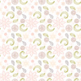 Handdrawn floral pattern in vintage style Royalty Free Stock Image