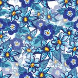 Handdrawn floral seamless pattern Stock Image