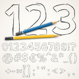 Handdrawn font Royalty Free Stock Photo