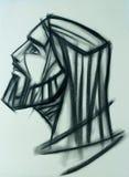 Handdrawn Illustration Jesus Christ Faces Lizenzfreie Stockfotos