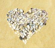 handdrawn isolerade skal för hjärta illustration Fotografering för Bildbyråer