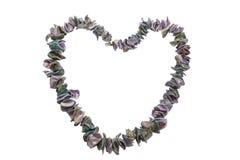 handdrawn isolerade skal för hjärta illustration Arkivbild