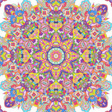 Handdrawn kaleidoscope  seamless. Handdrawn kaleidoscope aquarelle festive design Stock Photography