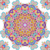 Handdrawn kaleidoscope  seamless Stock Photos
