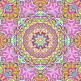 Handdrawn kaleidoscope  seamless Royalty Free Stock Image