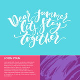 Handdrawn lettering card Stock Images