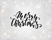 Handdrawn lettering Merry Christmas. design for holiday greeting cards and invitations  Royalty Free Stock Photo
