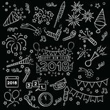 Handdrawn New Year Celebration Royalty Free Stock Image