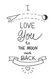 Handdrawn quotation about love Stock Image