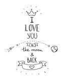 Handdrawn quotation about love Stock Photos