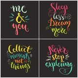Handdrawn Quotes Collection vector illustration