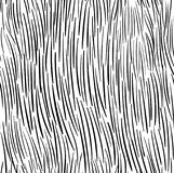 Handdrawn seamless fur texture pattern vector. Black and white Royalty Free Stock Image